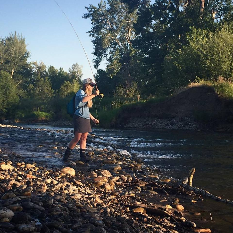 Fly Fishing the Gallatin River near Gallatin Gateway with Fins & Feathers of Bozeman's fly shop staff.