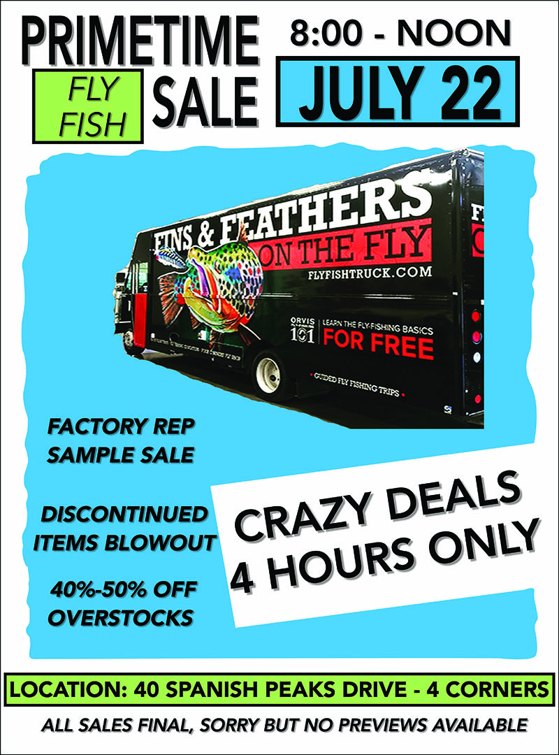 Bozeman Fly Shop Sale