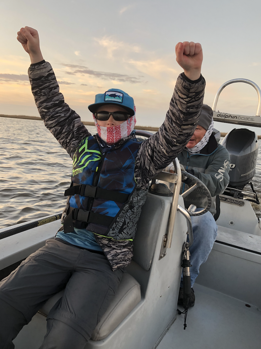 Matthew Swank celebrating the end to a great trip withRich Waldner in Louisiana during Winter 2019