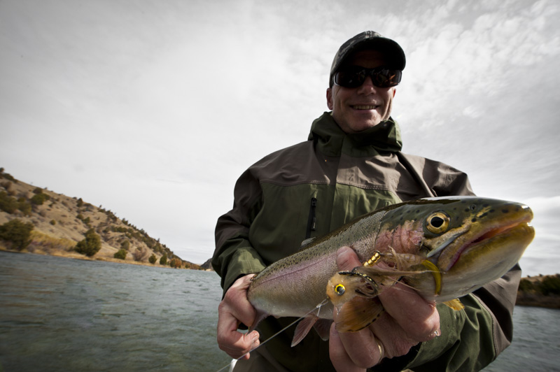 Fly Fishing the Lower Madison River with Fins & Feathers of Bozeman's fly fishing guide service.