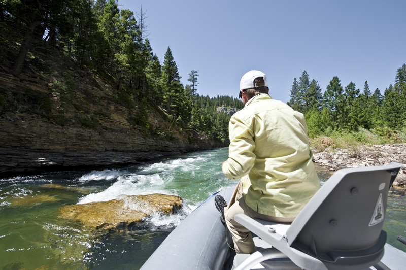 Montana small stream guided fly fishing trip with Fins & Feathers of Bozeman's fly fishing guide service