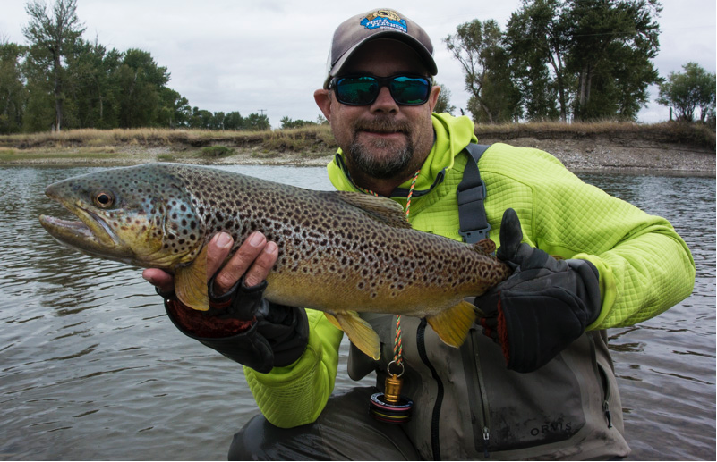 Guided fly fishing trip on Jefferson River success with Fins & Feathers of Bozeman's fly fishing guide service.