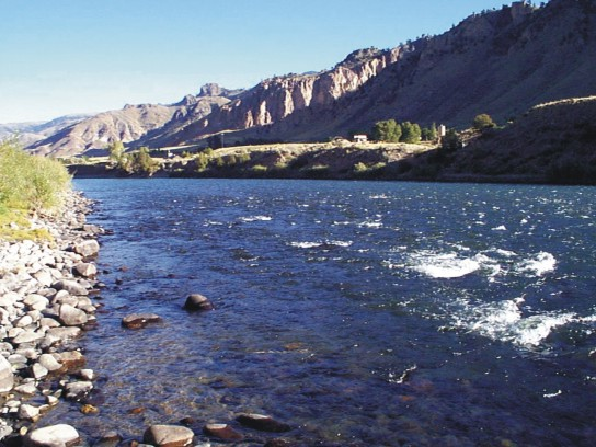 Yellowstone River fly fishing near Yankke Jim Canyon with Fins & Feathers of Bozeman's fly shop and Montana fly fishign guide service.