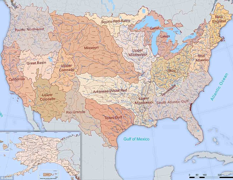 River basins of the us river basins of the united states gumiabroncs Images